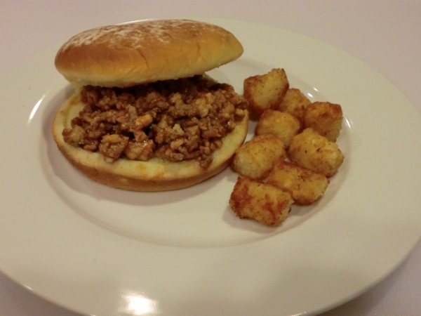 sloppy joe with tots