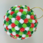 Pom Pom Christmas Tree Ornament