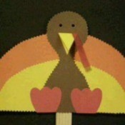 Turkey Stick Puppet