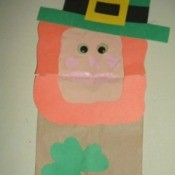 Paper Bag Leprechaun Puppet