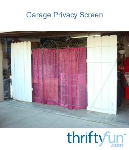 Garage Privacy Screen Thriftyfun