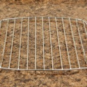 A cooling rack for baked goods