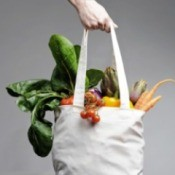 A bag full of fresh produce.