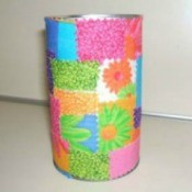 Scrap Fabric Pencil Holder