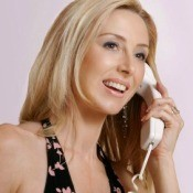 Woman Making Long Distance Phone Call