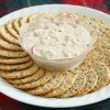 Salmon Dip on Plaid Tablecloth