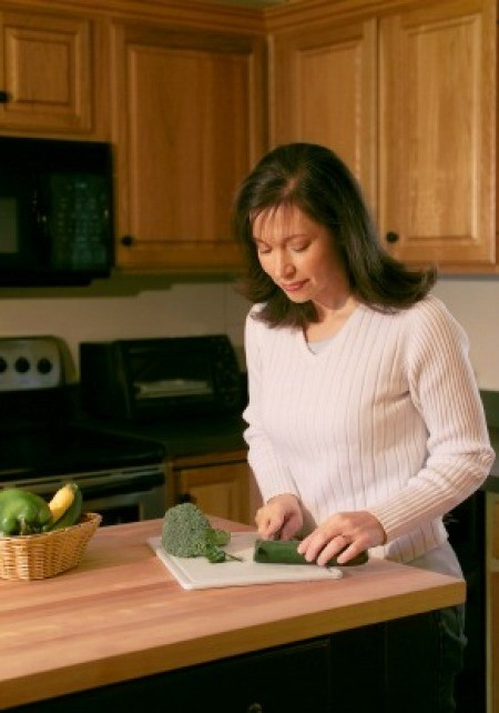 Woman Preparing a  Meal