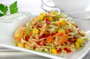 Corn and Cabbage Salad
