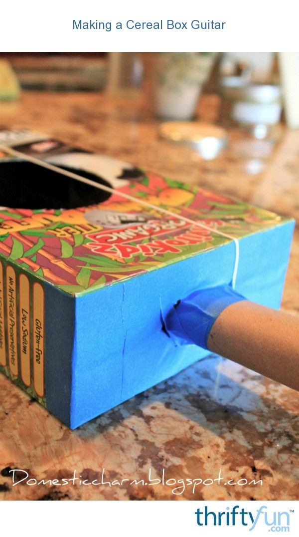 making a cereal box guitar