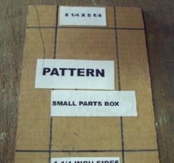 Template for boxes for organizing small parts.