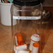 meds in container