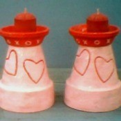 Clay Pot Candleholders