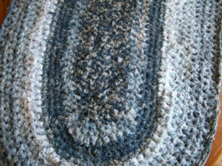 Crocheted Blue Jeans Rug