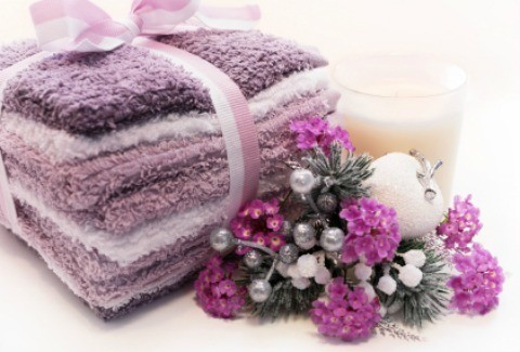Lavender towel gift set.