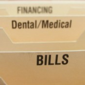 Bill folder for medical expenses.