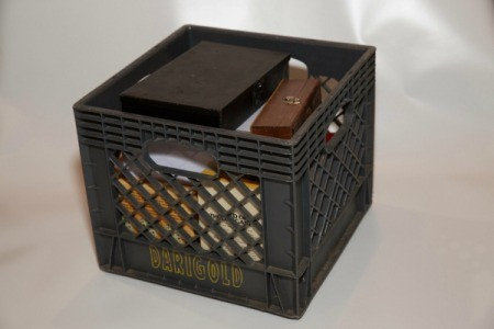 Milk Crate for Storing Games