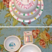 Faux Birthday Cake