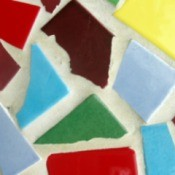 recycled tile mosaic