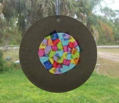 Paper Plate Suncatchers