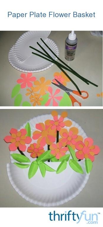Making Paper Plate Flower Baskets Thriftyfun