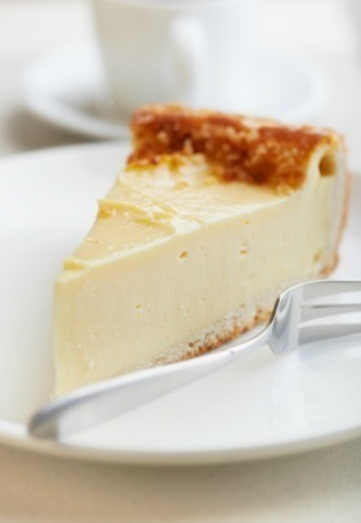 A piece of cheesecake.
