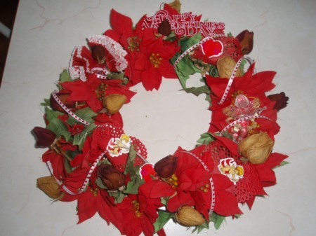 Love Through the Years Wreath - Finished wreath.