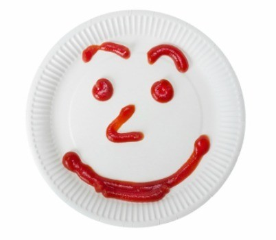 paper plate with a smiley face