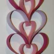Paper Heart Door Hanger