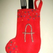 Christmas Stocking Silverware Holders