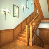 beautiful wood stairs