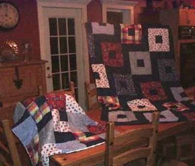 Two quilts.