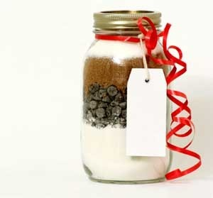 jar of dry cookie mix