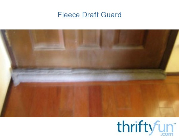 Polar Fleece Draft Guard For Your Door Thriftyfun