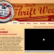 thrift week web page