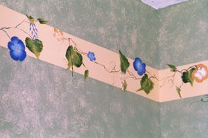 hand painted wall border