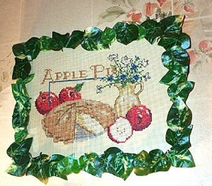 Apple pie motif needlework.