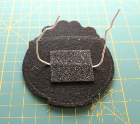 felt square over wire
