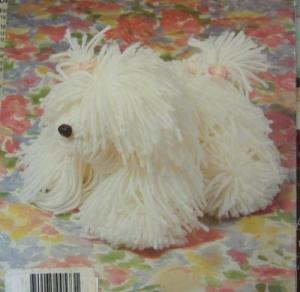 White yarn dog.