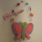 Hanging foam butterfly.