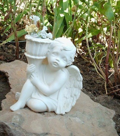 garden sculpture of angel