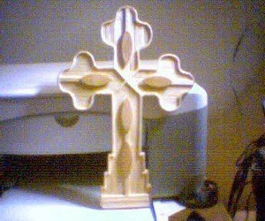 Ornate cross.