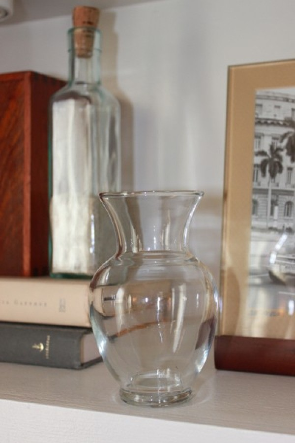 Clear vase before painting.