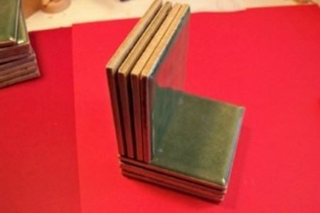 Recycled Tile Bookends