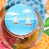 Beach Reminder Jars - Closeup of lid.