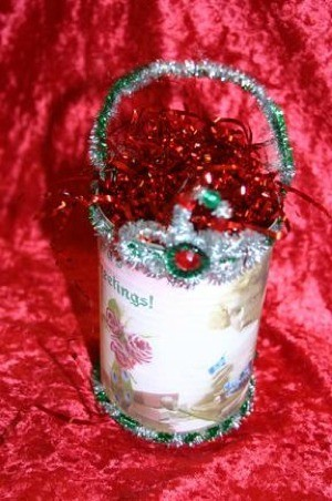"""A Little Frazzled By the Holidays"" Gift Can"