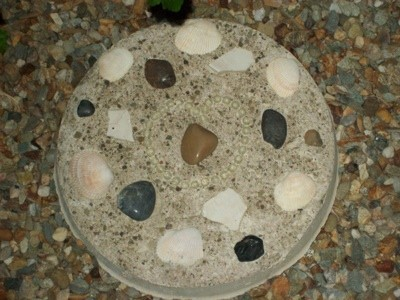 decorated stepping stone
