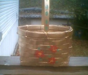 Painted basket.