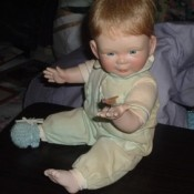 Porcelain baby doll.