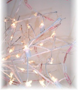 Lighted garland.
