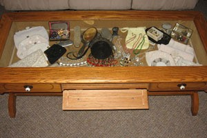 Converted Coffee Table Display Case